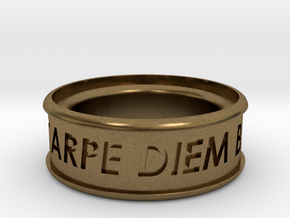Carpe Diem Ring 5 Inch Diameter in Natural Bronze