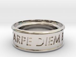 Carpe Diem Ring 5 Inch Diameter in Platinum