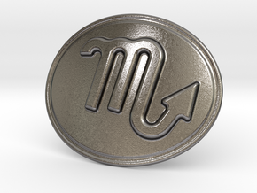 Scorpio Belt Buckle in Polished Nickel Steel