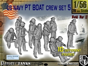 1-56 US Navy PT Boat Crew Set5 in Frosted Ultra Detail
