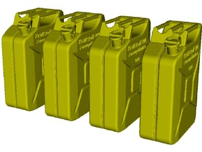 1/24 scale WWII Wehrmacht 20 lt fuel canisters x 4 in Smooth Fine Detail Plastic