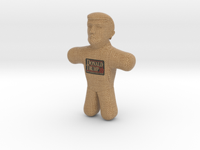 Trump Voodoo Doll Color in Full Color Sandstone