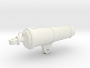 1:24 32-pounder Carronade barrel in White Natural Versatile Plastic