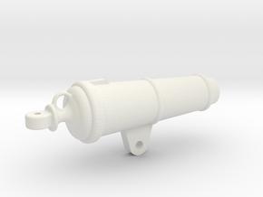 1:24 32-pounder Carronade barrel in White Natural Versatile Plastic