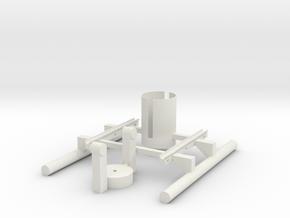 360flymount V2 in White Natural Versatile Plastic