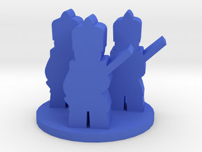 Game Piece, Colonial French Unit in Blue Processed Versatile Plastic
