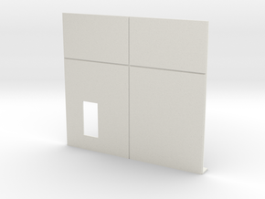 Personnel Door; Left Side in White Natural Versatile Plastic