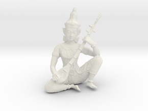 Indian God in White Natural Versatile Plastic