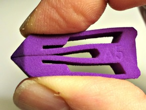 Tweezers A5 in Purple Processed Versatile Plastic