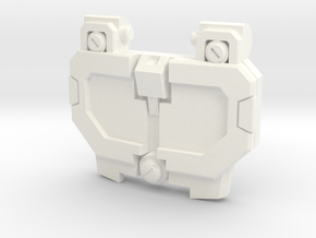 Pessimist Roadwarrior's IDW Chest Plate v2 in White Processed Versatile Plastic