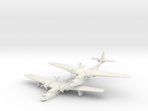 Dornier Do 26 (2 Airplanes) 6mm 1/285 in White Natural Versatile Plastic