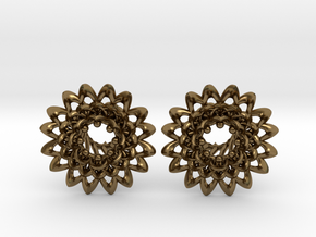 Plugs The Chrysanthemum / gauge / size 0g (8mm) in Polished Bronze