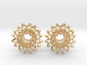 Plugs The Chrysanthemum / gauge / size 0g (8mm) in 14k Gold Plated Brass