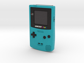 1:6 Nintendo Game Boy Color (Teal) in Full Color Sandstone