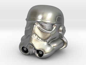 Storm Trooper Helmet  in Natural Silver
