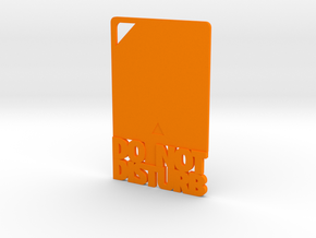Credit Card DND in Orange Processed Versatile Plastic