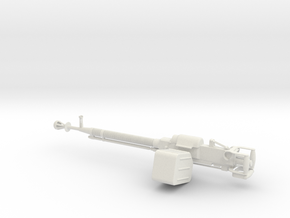 Russian DShK Machine gun 1:10 scale in White Natural Versatile Plastic