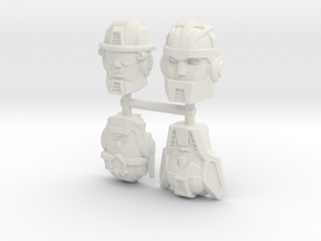 Rescue Bots Faceplate Four Pack #1 in White Natural Versatile Plastic