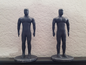 Humanoid Robot Gort Likeness 4 in White Strong & Flexible Polished