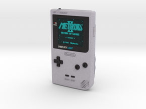1:6 Nintendo Gameboy Light (Silver Metroid 2) in Full Color Sandstone