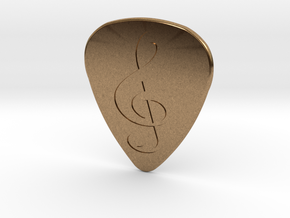 Treble Clef Plectrum - 1.5mm in Natural Brass