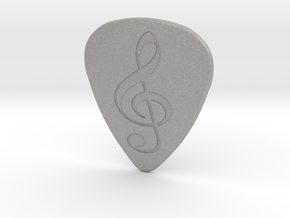 Treble Clef Plectrum - 1.5mm in Aluminum