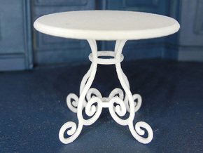 1:24 Rod Iron Table in White Natural Versatile Plastic