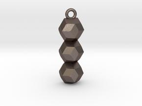 geometric pendant in Polished Bronzed Silver Steel