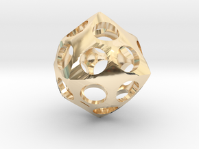 Deltoidal Icositetrahedron Roller in 14K Yellow Gold