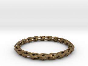H Bracelet, Medium Size, d=65mm in Natural Bronze: Medium