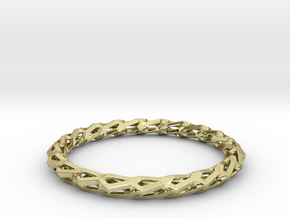 H Bracelet, Medium Size, d=65mm in 18k Gold Plated: Medium