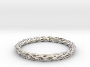 H Bracelet Smooth, Medium Size, d=65mm in Rhodium Plated Brass: Medium