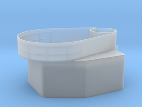 1/144 Rear Deckhouse with the Teardrop 40mm Tub in Smooth Fine Detail Plastic