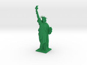 Statue of Liberty 150mm in Green Processed Versatile Plastic