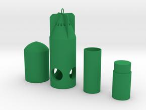 Dye Marker Bomb / Buoy  SAR3DP in Green Processed Versatile Plastic