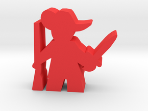 Game Piece, Musketeer, sword and musket in Red Processed Versatile Plastic