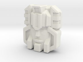 Monstructor Face, G1 (Titans Return) in White Natural Versatile Plastic