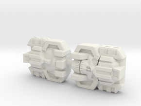 Monstructor Face 2-Pack (Titans Return) in White Natural Versatile Plastic