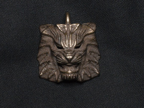 Lion Pendant in Polished Bronze Steel