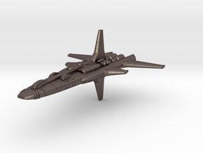 Galaxy Alliance cruiser in Polished Bronzed Silver Steel