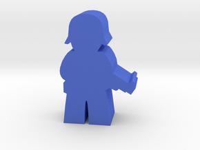 Game Piece, WW2 German Soldier in Blue Processed Versatile Plastic