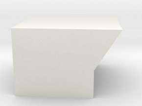 Bottom8SegmentDisplaySideMount in White Strong & Flexible