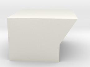 Bottom8SegmentDisplaySideMount in White Natural Versatile Plastic