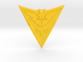 """Team Instinct Badge 4"""" in Yellow Strong & Flexible Polished"""