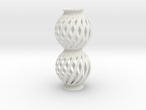 Lamp Ball Twist Spiral Column Fold and Cut in White Natural Versatile Plastic