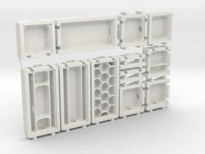 Modular Formicarium Kit in White Natural Versatile Plastic