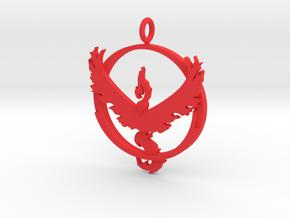 Pokemon Go Team Valor Pendant in Red Processed Versatile Plastic