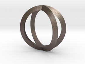 Double Torus in Polished Bronzed Silver Steel