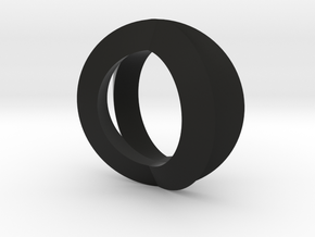 Double Torus2 in Black Natural Versatile Plastic