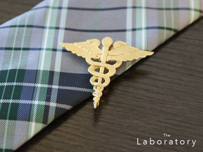 Caduceus Tie Bar (Metals) in Polished Brass